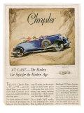 Chrysler  Magazine Advertisement  USA  1928