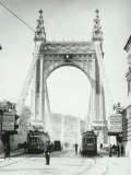 View of the Chain Bridge  Called Szechenyi-Lanchid  Budapest