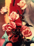 Close-up of a Bouquet of Roses Arranged in a Vase
