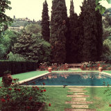 View of a Garden with a Swimming Pool