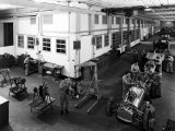 Workers Assembling Car Motors in the Ferrari Factory
