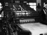 Rotary Press in the Newspaper Printing Facility of the Daily Il Resto Del Carlino of Bologna