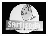 Billboard Advertising Sartisoda  Produced by the Luigi Sarti and Figli Distillery Company  Bologna
