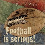 Football américain Reproduction d'art par Jo Moulton