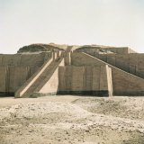 Ziggurat in Sumerian City Dating from around 4500-400Bc  Ur  Iraq  Middle East