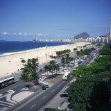 Overlooking Copacabana Beach  Rio De Janeiro  Brazil  South America