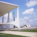 Palacio Do Planalto in Foreground  Brasilia  UNESCO World Heritage Site  Brazil  South America