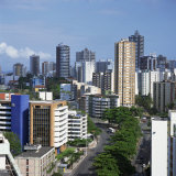 High Rise Buildings on the City Skyline of Salvador in Bahia State in Brazil  South America