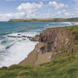 Coastal Footpath Between Haymer Bay Rock and Polzeath  Cornwall  England  United Kingdom  Europe