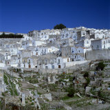 Houses of the Village of Monte Sant Angelo in Puglia  Italy  Europe