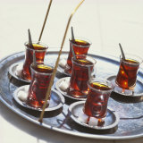 Tray of Turkish Teas  Turkey  Eurasia