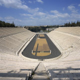 Stadium Dating from 330 BC  Restored for the First Modern Olympiad in 1896  in Athens  Greece