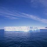 Tabular Iceberg in Blue Sea in Antarctica  Polar Regions