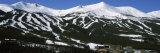Ski Resorts in Front of a Mountain Range  Breckenridge  Summit County  Colorado  USA