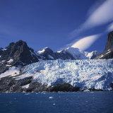 Glacier Flow Reaching the Edge of the Drygalski Fjord  South Georgia Islands  Polar Regions
