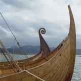 Replica Viking Ships  Oseberg and Gaia  Haholmen  West Norway  Norway  Scandinavia  Europe