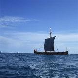 Viking Ship  Gaia  Replica of the Gokstad  Greenland  Polar Regions