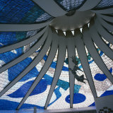 Interior of the Roof of the Catedral Metropolitana  Brasilia  Brazil  South America