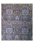 Flower Garden Furnishing Fabric  Jacquard Woven Silk  England  1879