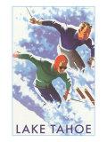 Skiers  Lake Tahoe
