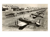 Randolph Field  Texas  with Fighter Planes