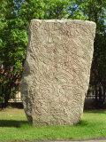 Rune Stone in Grounds of Uppsala Cathedral  Sweden  Scandinavia  Europe