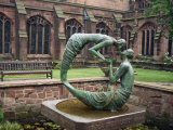 Cloister Garden  Chester Cathedral  Cheshire  England  United Kingdom  Europe