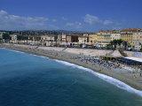 Beach  Baie Des Anges  Nice  Cote D'Azur  Provence  France  Mediterranean  Europe