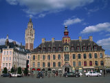 Vielle Bourse on the Grand Place in the City of Lille in Nord Pas De Calais  France  Europe
