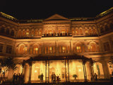 Facade of the Raffles Hotel at Night in Singapore  Southeast Asia