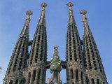 Spires of the Sagrada Familia  the Gaudi Cathedral in Barcelona  Cataluna  Spain  Europe