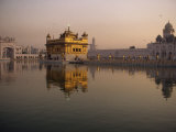 Guru's Bridge over the Pool of Nectar  Leading to the Golden Temple of Amritsar  Punjab  India