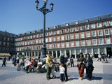 People at a Popular Meeting Point in the Plaza Mayor in Madrid  Spain  Europe