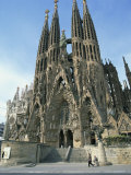 Sagrada Familia  the Gaudi Cathedral in Barcelona  Cataluna  Spain  Europe
