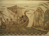 Roman Mosaic  Ulysses and Chant of Sirens  Bardo  Tunisia  North Africa  Africa
