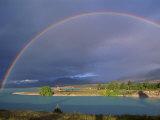 Rainbow over Lake Tekapo  Canterbury  South Island  New Zealand  Pacific