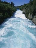 Hukanui  the Huka Falls on the Waikato River  North Island of New Zealand  Pacific