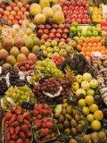 Fruit and Vegetable Display  La Boqueria  Market  Barcelona  Catalonia  Spain  Europe