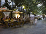 Cafe  Rambla Llibertat  Old Town  Girona  Catalonia  Spain