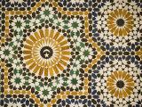 Detail of Zellij Tilework  Musee De Marrakech  Marrakech  Morocco  North Africa  Africa