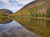 Willey Pond  Crawford Notch State Park  White Mountains  New Hampshire  New England  USA