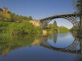 World's First Ironbridge over the River Severn at Ironbridge Gorge  Shropshire  England  UK