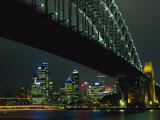 Sydney Harbour Bridge and Skyline  Sydney  New South Wales  Australia  Pacific