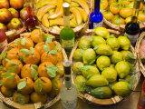 Window Display of Traditional Marzipan Fruits and Grappa  Taormina  Sicily  Italy  Europe