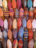 Traditional Footware in the Souk  Medina  Marrakech  Morocco  North Africa  Africa