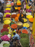 Flower Necklace Sellers in City Market  Bengaluru  Karnataka State  India