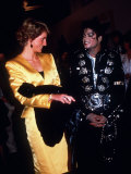 Michael Jackson at His Concert at Wembley Stadium When Meeting Diana the Princess of Wales