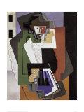 The Accordion Player Reproduction d'art par Gino Severini