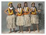Hawaiian Hula Dancers  c1880