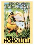 Mid Pacific Carnival  Honolulu  Hawaii  1915